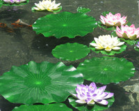 Wholesale Green Plants Artificial Lotus Flower Leaf Simulation Flower leaf Artificial floating water Plants Home garden pool Decor