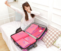 Wholesale Travelling Bag in Bag Mesh pouch Nylon Organizer Bag set