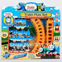 Wholesale Thomas train track tomas electric train set Baby educational toys Small electric splicing rail train birthday gift Boy toys