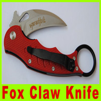 Cheap 2014 New Promotion cutting tool EDC G10 Handle Folding blade knife Fox Claw Karambit RED Edition Folding pocket knife knives 299X