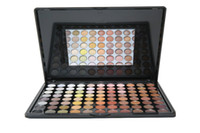 Cheap Wholesale-New Professional 88 Full Color Eye Shadow Palette Natural Matte Warm Color Eye Beauty Makeup Tool Set Mirror Box Free Shipping