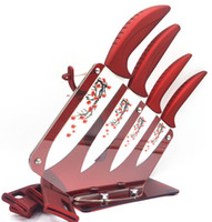Wholesale Beauty Gifts piece set Zirconia Ceramic Knife Set Kit Kitchen quot quot quot quot inch Peeler Holder