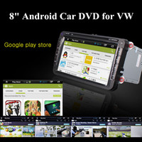 Wholesale New quot Android Din HD Car DVD Player GPS for VW Scirocco Golf Polo Passat Jetta Tiguan Touran Sharan DHL