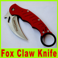 Cheap 2014 New Tactical utility knives EDC G10 Handle Folding blade Fox Claw Karambit RED Edition Hunting Fighting Knives Multi tool Kit 299X