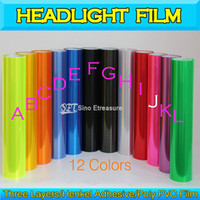 Wholesale Super Glossy Headlight Tint Color Changing Headlamp Vinyl Wrap Layers x10m x39 In