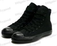 Cheap New Unisex Low-Top & High-Top Adult Women's Men's Canvas Shoes 13 colors Laced Up Casual Shoes Sneaker shoes shoe 45