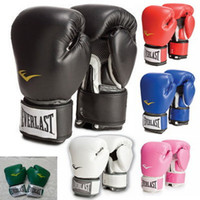 Wholesale MMA Fight Gloves Everlast Boxing Gloves PU Leather Gloves Breathable Fiber Material Professional Sanda Gloves