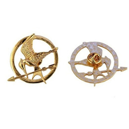 Wholesale The Hunger Games Brooches Inspired Mockingjay And Arrow Brooches Pin Corsage Promotion New Arrival European Hot Movie For Women And Men