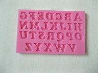 Wholesale 26 English Letters shape fondant D molds silicone mold candle moulds sugar craft tools chocolate moulds bake ware