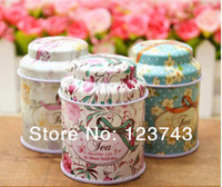 Wholesale Small tin tea caddy tea tin box candy box European