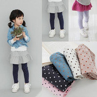 Wholesale Kids Girl Polka Dot Tights Cotton Pant Y Toddler Baby Pants Classic LKM118 Drop shipping