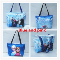 Wholesale children shopping bag single shoulder Bag Elsa Anna Cartoon Tote bag Babies Kids storage bag princess bag gift for girls FZ99