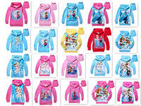 Cheap 20 styles cotton Frozen Baby Girls Elsa Anna Princess Olaf Hoodie Long Sleeve Terry Hooded Jumper Cartoon Hoodies Outerwear Kids Clothing