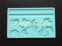 Wholesale Silicone Molds Flower Leaf Fondant and Gum Paste Mold Cake Decoration Mold