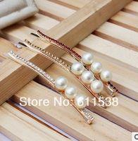 Cheap fashion hot sale rhinestone hair clip hair bands and hair accessory hair clips crystal jewelry (mix 12 pcs lot