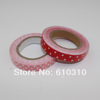 Wholesale mm DIY printed dots floral fabric tape flowers decorative office adhesive tape