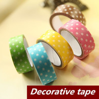 Wholesale 10 Colored Dot Dots Adhesive tape masking Japanese tape Decorative scrapbooking sticky School supplies