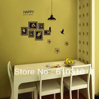 Cheap Free Shipping European romantic wall stickers sitting room decorates a wall post photo frame photo on wall