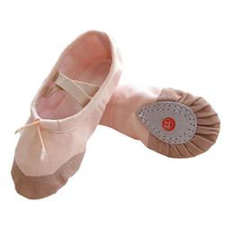 Jazz rosa en venta-Nuevas mujeres calientes de la danza para niños zapatos de lona cómodos respira resistente al desgaste del zapato de ballet zapatos de baile Girs Calzado libremente antideslizantes rojo rosa