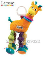 Cheap Free shipping lamaze yellow deer 12inch bed rattle baby toy retail