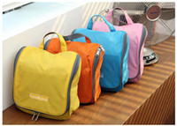 Wholesale By DHL Travel Cosmetic bags big Capacity Toilet Kit Wash bag Make up Bag Outdoor Hanging Purse Storage Sorting bags in bag