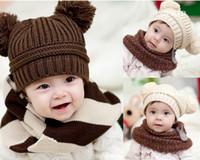 Wholesale Children Caps Kids Knitted Winter Caps Beanie Hat Baby Crochet Hats Boys Girls Animal Winter Hats Boy Girl Wool Cap Hand Knitted beanie