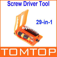 Cheap 29-in-1 Interchangeable Professional Versatile Hardware Screwdriver Tool Kit with Carry Box Free Shipping wholesale
