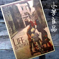 beautiful movie poster - Vintage Retro Paper Poster LIFE IS BEAUTIFUL MOVIE FILM Christmas Gift