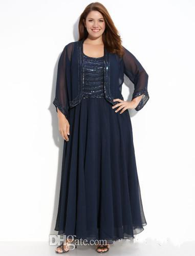Plus Size Ankle Length Mother Of The Bride/Groom Dresses With ...