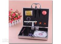 Wholesale Pro False Eyelashes Eye Lash Extension Makeup Tweezers Brush Glue Set Kit Case