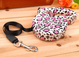 Wholesale New Leopard printing automatic dog traction cachorro collar and leads for dogs coleira para cachorro pelt for pet shop CJ819