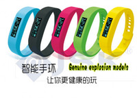 Wholesale Healthy Bracelets Bluetooth Smart Silicon Wristband Pedometer Monitoring Sleep Fitness Bluetooth EDR Smart Watch Inch DHL