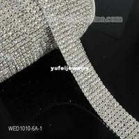 Wholesale 5yard A Row Wedding Decoration Crystal Band Rhinestone Cup Chain Trim Cake Ribbon SS16