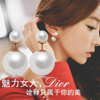 imitation jewelry - Hot Women Lady Earring Girl Imitation Pearl Jewelry Dangle Eardrop For Party Christmas Gifts SE101