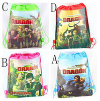 Wholesale 4styles HOW TO TRAIN DRAGON movie children s drawstring bags snack backpacks handbags school bags kids shopping bags present Child handbag