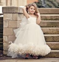 Cheap Flower Gilr Dresses Best Feather Flower Girl Dress