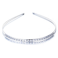 Wholesale Elegant Flashing Plating Silver Hairbands MM For Women Crown Christmas Gift