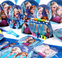 Wholesale Children Birthday Party Decoration Supplies Popular Cartoon Frozen Princess Queen Anna Elsa Kids Birthday Dress Up Supply Set