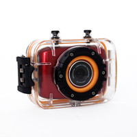 red camera - Waterproof P quot Touch Screen Mini Sports Helmet DV Riding Diving DV m HDMI Output PC Camera Degree Wide angle Lens Red Q2030C