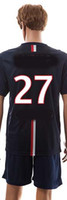 blank football jersey - Paris Home Soccer Jerseys Blank Football Kits French Ligue club Soccer Sets Top Quality Sports Uniforms Kits for Men
