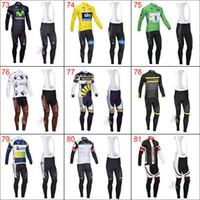 Wholesale 2014 High Quality FDJ Castelli Team Bib Long Sleeve Cycling Jerseys Wear Clothes Bicycle Bike Riding Jerseys Bib Pants Bicycle Clothing