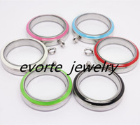 Wholesale High Quality Twist Open Enamel mm L Stainless Steel Glass Pendant Floating Charms Living Locket