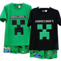 2014 kids new minecraft clothes suit 6- 12T boy t- shirts + Pa...