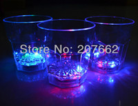 Wholesale ML plastic cup Flashing Led Wine Glass Light Up Barware Drink Cup led flashing cup