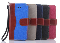 Cheap New product For iPhone 6 5.5 inch Stand The new color cowboy Leather Case Luxury Phone Bag Cover With Card Holders Photo Frame
