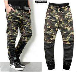 Wholesale Dnine summer army fashion hanging crotch jogger pants patchwork harem pants men crotch big Camouflage pants trousers HOT