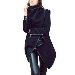 Wholesale S5Q Women Lady Slim Wool Warm Long Coat Jacket Trench Parka Windbreaker Outwear AAADUZ