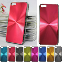 For Apple iPhone plastic cd covers - CD Pattern Metal PC Bling Aluminum Hard Plastic Case Cover Skin Shell For iPhone C iPhone5C DHL Fedex MOQ