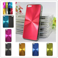 Plastic+Metal plastic cd covers - CD Pattern Metal PC Bling Aluminum Hard Plastic Case Cover Skin Shell For iPhone C iPhone5C DHL Fedex MOQ
