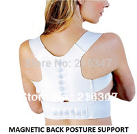 Wholesale Shoulder belt elastic leather white belt support back shoulder Magnetic Posture Support brace Corrector
